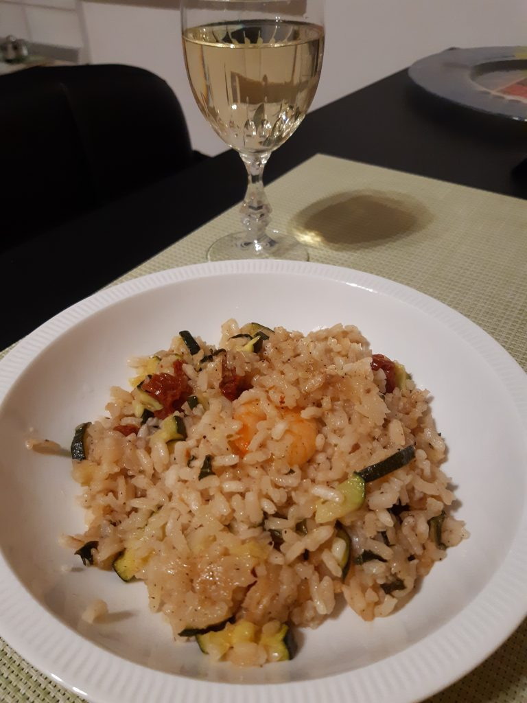 Risotto mit Shrimps